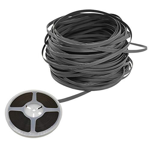 Polyethylen-Kunststoff, Rattan, synthetisches Korbgeflecht, Reparaturmaterial für Strick- und Reparatur, Rattan-Stuhl, Tischkorb (grau, 50)