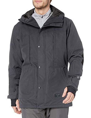 Billabong Men's North Pole Snowboard Jacket, Dark Grey, M