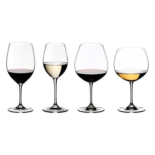 RIEDEL Vinum Weinglas Tasting Set Weinglas, Glas, Mehrfarbig, 46.6x 13.1x 27.5cm, 4Stück