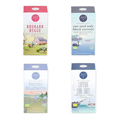 Just T Bio Tee Set Hyggelig Afternoon Tea mit Organischem Tee Auswahl für Gemütliche Lebensgefühle (Teebeutel (4 x 20))