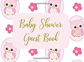 Baby Shower Guest Book: Welcome Sign In Wishes for Baby and Advice for Parents - Pink Owls