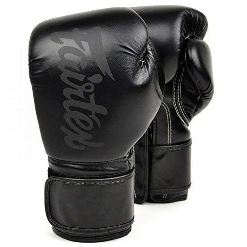 Fairtex Boxing Gloves BGV14 SB Black ON Black 8 10 12 14 16 OZ Muay Thai MMA K1 (16 oz.)