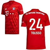adidas FCB FC Bayern München Trikot Home Heimtrikot 2019 2020 Kinder Tolisso 24 Gr 164