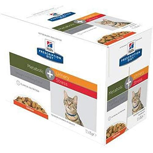 Hill's Prescription Diet - Hill's Prescription Diet Feline Metabolic Plus Urinary Stress - 12 x 85 g