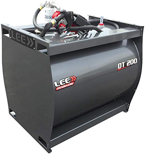 LEE>> DT 200 / One 200 Gallon Diesel Fuel Tank w/ 20GPM Pump Gray' /></a></td> <td class=