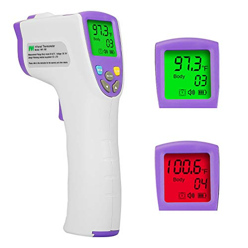 iMounTEK Digital Infrared Non-Contact Forehead Thermometer for Babies, Kids and Adults, 1S Fast & Accurate Digital Reading, Non-Contact & LCD Colorful Display, Fever Warning System & 99 Sets Of Memory