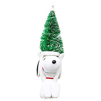 LED Snoopy and Woodstock Festive Green 9 x 3 Resin Holiday Night Light