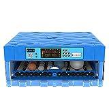 AQAWAS Incubadoras De Huevos, Incubadora Control de Temperatura y Humedad, multifunción Gran Capacidad, Incubadoras De Huevos para Pollos/Patos/Aves,Blue_56 Eggs