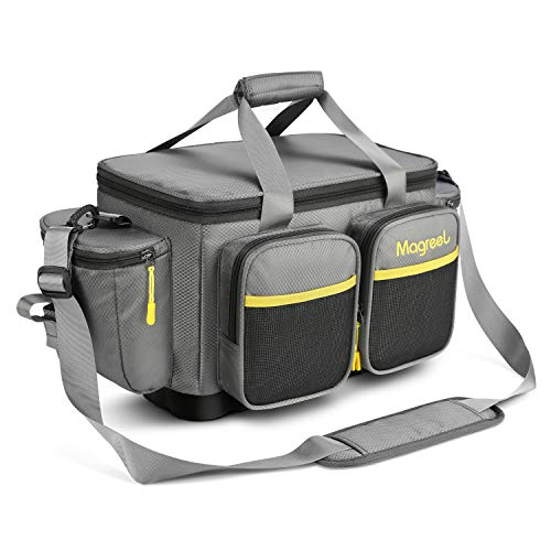 Magreel Angelrucksack, wasserfeste Angeltasche mit gepolstertem Schultergurt und Rutschfester Basis