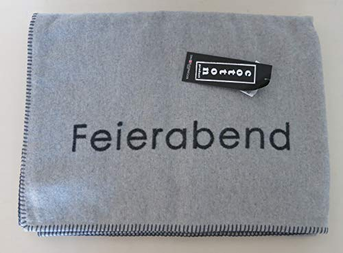 David Fussenegger - Sylt BW - Decke/Wohndecke - Feierabend - Baumwollmischung - Farbe: grau/Filz - Größe : 140 x 200 cm