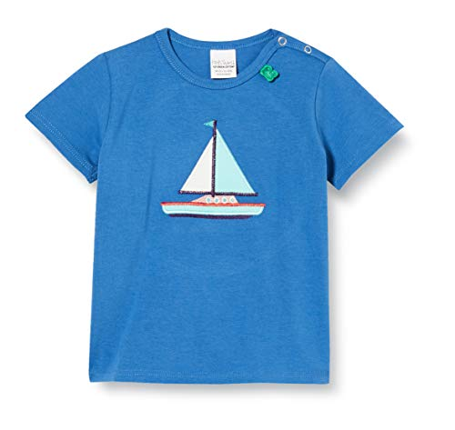 Fred'S World By Green Cotton Ocean Boat S/s T T-Shirt, Bleu (Blue 019403901), 74 Bébé garçon