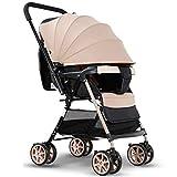 Upgrade Triciclo Triciclo para niños Cochecito de bebé, Cochecito, Paraguas ligero, Cochecito plegable portátil, Puede sentarse reclinable, Cochecito de bebé Triciclo de bebé Cochecito para niños Sill
