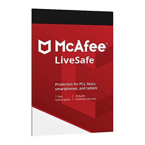 McAfee LiveSafe 2019 | Eine unbegrenzte Anzahl an Geräten | 1 Jahr | PC/Mac/Smartphone/Tablet | FFP