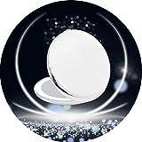 H/L Funzione Portable LED Specchio Cosmetico con 2X Lente d'Ingrandimento, Non Solo HD Specchio Superficie, Ma Anche Compatto E Leggero Facile da Trasportare E da Utilizzare,Bianca