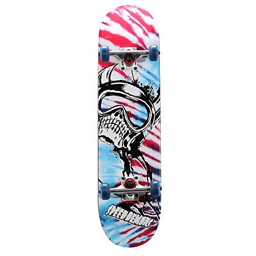 Speed Demon SPD 39 Series Flag-Splatter Skateboard 163401, blau, 78,7 x 20,3 cm