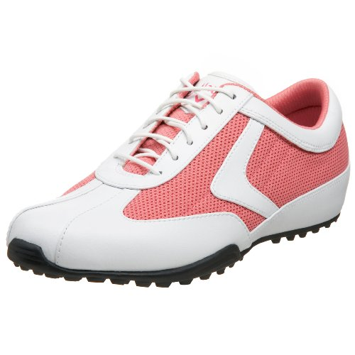 Callaway Women's Chev UL Golf Shoe,White/Coral,7.5 M US