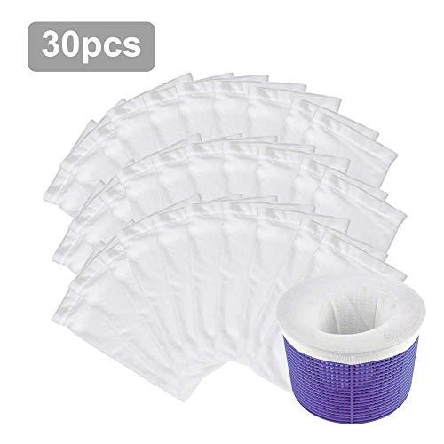 Opfury Pool Skimmer Socken Nylon Mesh Screen Sock Liner spart Filter Perfekte Sparer für Schwimmbecken Körbe & Skimmer, Entfernt Schmutz, Blätter, Öl, Pollen, Insekten, Abschaum
