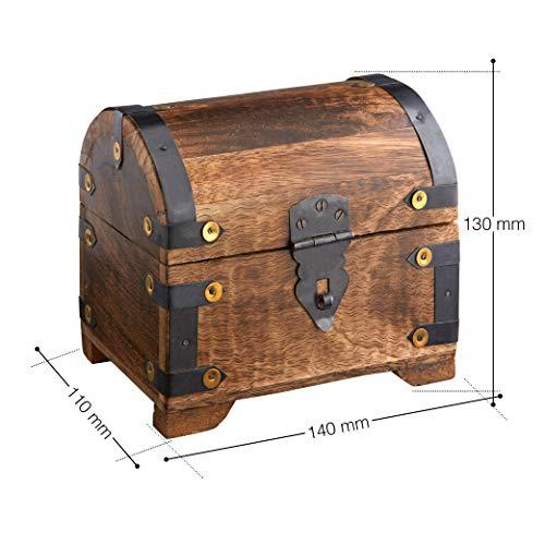 Casa Vivente Schatztruhe mit Gravur – Zum 18. Geburtstag – Personalisiert mit Namen – Aufbewahrungsbox aus dunklem Holz – Verpackung für Geld und Gutscheine – Geschenkidee zur Volljährigkeit - 7