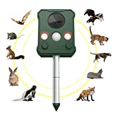 LemonDream Solar Maulwurfschreck Wasserdicht Ultraschall Repeller Schädlingsbekämpfung Maulwurf Vertreiber Wühlmausschreck Repeller Mäuse und Schlangen Katze,Hunde, Maulwürfe, Ratten(1 Packung)