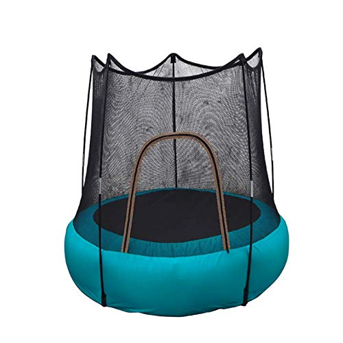 FEDYS Trampolines for Kids Indoor/Outdoor Inflatable Trampoline Small With Protective Net for Children Over 2 Years / 60 Kg
