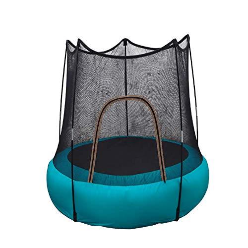 FEDYS Trampolino per Bambini Interno/all'aperto Gonfiabile Trampolino Piccolo con Rete Protettiva, per Bambini sopra i 2 Anni / 60 kg(1 Pompa ad Aria Inclusa)