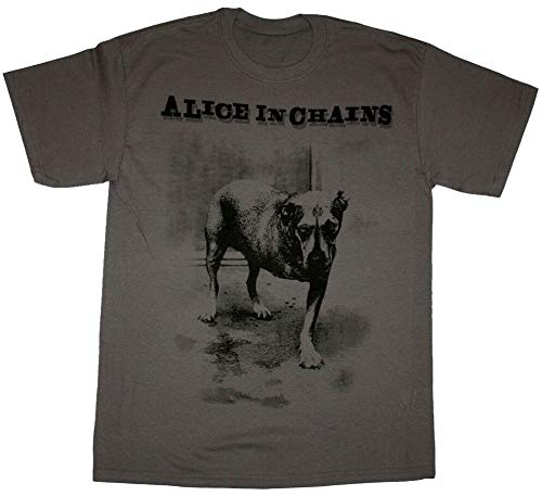 Alice In Chains Dog Grunge Seattle Hole New Grey T-Shirt