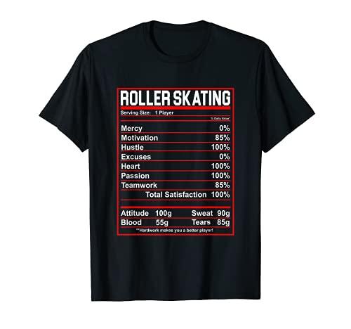 Roller Skating Nutrition Facts Skater T-Shirt