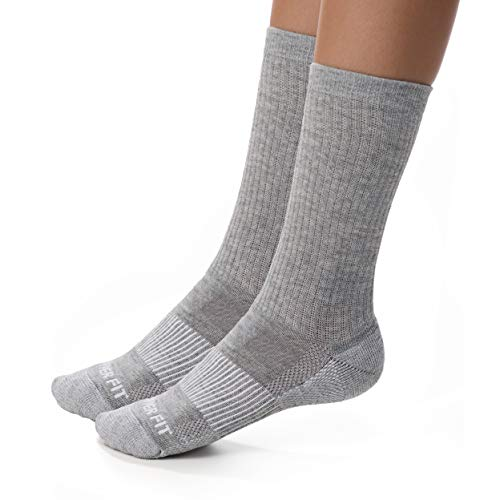 Copper Fit Unisex-Adult's Crew Sport Socks-2 Pack, Gray, Large/X-Large