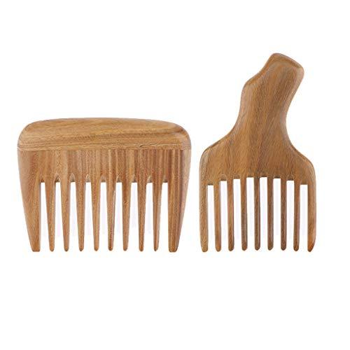 B Blesiya 2x Dents Afro Pick Ascenseur Peigne Large Dent Cheveux Bouclés Peigne Unisexe Coiffure De Poche Pro Antistatique