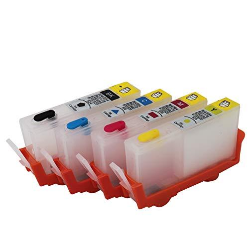 WSCHENG para HP920 Cartucho de Tinta Recargable para HP 920 920XL para HP HP OfficeJet 6000 6000A 6500 6500A 7000 7000A 7500 7500A con Chips