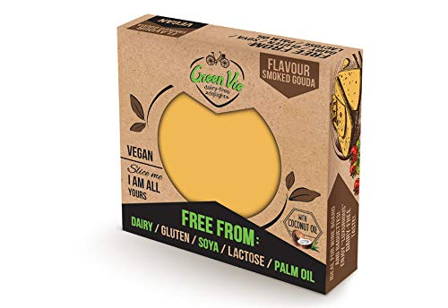 GreenVie Queso Gouda Ahumado Bloque vegano 250g (Pack de 2)