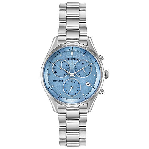 Citizen Women's Chandler Chronograph Quartz Watch with Stainless Steel Strap, Silver, 15 (Model: FB1440-57L)