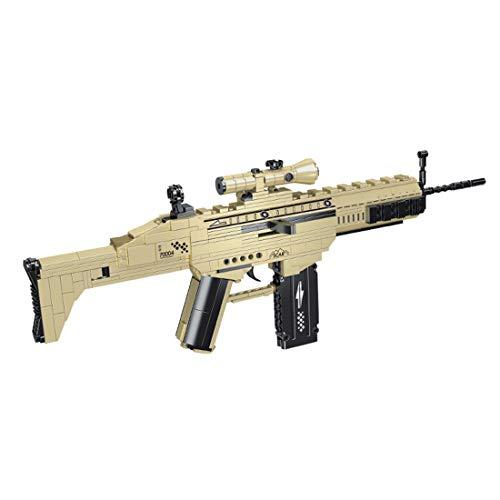 Leic Scar Assault Blasters Modell 385St. Baustein Military Shooting Blasters Simulation Mechanische Waffensteine Modell Kompatibel mit Lego-Technik