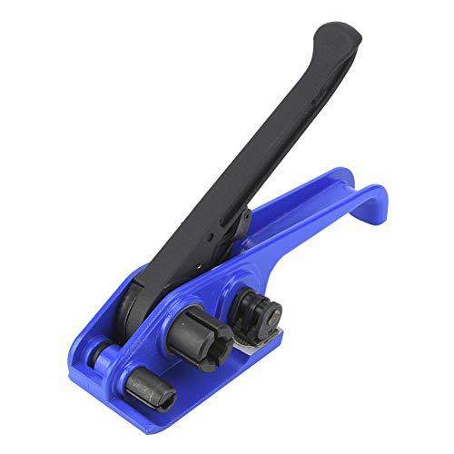 梱包機手動スチールストラップ厚みのあるジョーテンショナークリンパーベルトバンド付きツール、カッター付きPETプラスチックストラップ用、16?19mm