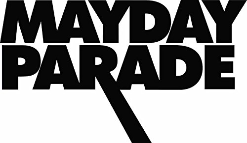 Mayday Parade 6' Rock Band Logo Decal Sticker for Cars Laptops Tablets Skateboard - Black