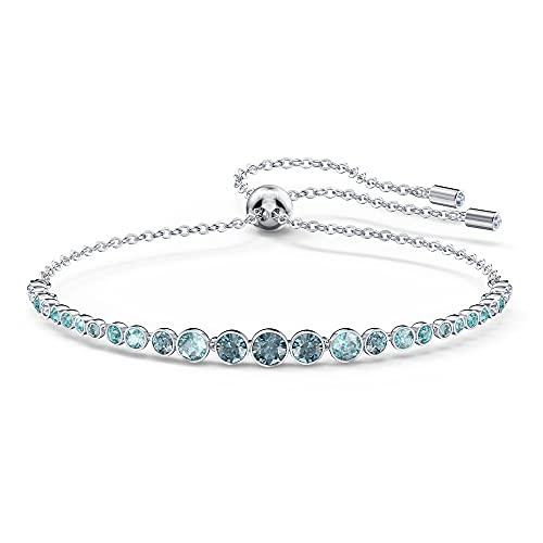 Swarovski Women's Emily Gradient Bracelet, Brilliant Blue and White Crystals, Rhodium Plated Metal, from Swarovski Emily Collection