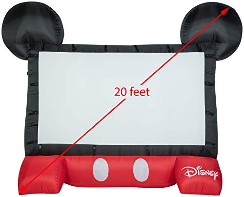 Gemmy 39117-32 Airblown Mickey Movie Screen the Original Inflatable 3911-32, Disney 128,Black, White, & Red