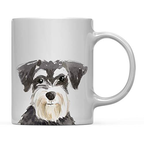 Regalo de taza de café para perro, Schnauzer miniatura de cerca, paquete de 1, regalo de Navidad para cumpleaños de amante de los animales domésticos para su familia 11oz
