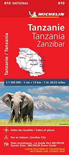 Michelin Tanzanie-Zanzibar: Straßen- und Tourismuskarte 1:1.300.000 (MICHELIN Nationalkarten)
