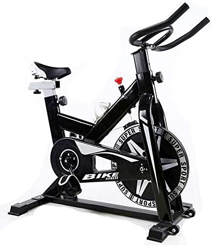 ZJDM Bicicletas de Ejercicio Verticales con Monitor de frecuencia cardíaca, Bicicleta Ultra silenciosa con Soporte de Peso de 330 Libras, Equipo Deportivo aeróbico para el hogar