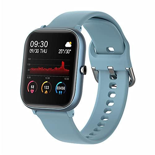 ZOZIZZ Smart Watch, Pantalla táctil Presión Arterial Monitor de frecuencia cardíaca IP67 A Prueba de Agua Reloj Deportivo Fitness Tracker Pulsera, Azul