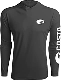 Costa Del Mar - Hooded Technical Performance Long Sleeve - Grey