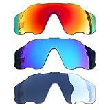 SOODASE Para Oakley Jawbreaker Gafas de sol Rojo/Azul/Fotocromismo Lentes de repuesto polarizadas