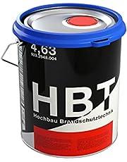 HBT Fast-Dry Alkyd 4314   rode metaalverf voor staal en ijzer   metaallak RAL 3011 roestwerende verf voor binnen en buiten   2-in-1 primer en metaalbeschermende lak in bruinrood   mat