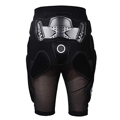 Kklak Short De Protection pour Hanches pour Équipement De Plein Air, Équipement De Protection pour Les Détails Parfaits, Skate Snowboard Skating Motorcross (Taille S-XXL) Noir,L