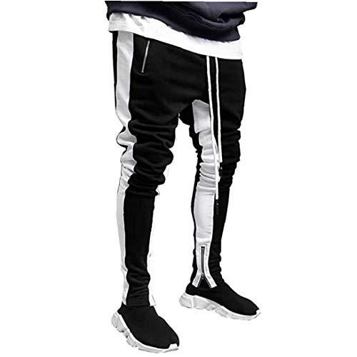 xiaocheng Pantalones Gimnasio Sport Hip Hop de los Hombres Slim Fit Track...