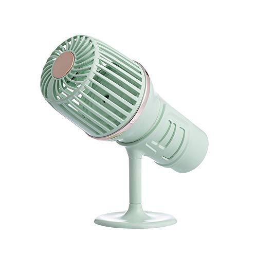 MYXMY Mikrofon Fan kann Spray Kleines Plus-Studentenwohnheim tragbare Portable USB-Ventilator-Grundschule Fan (Color : A)