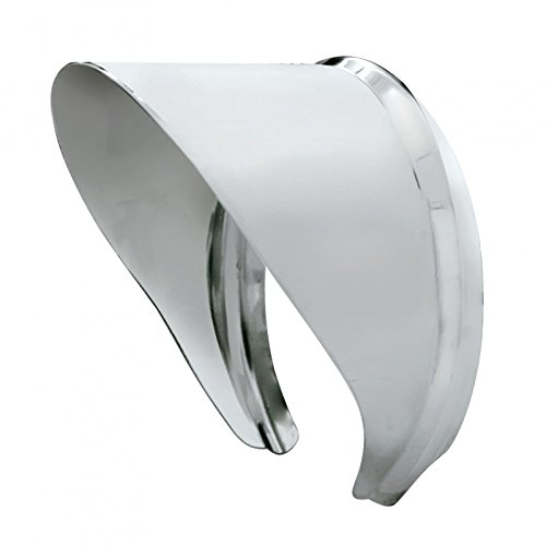 United Pacific C5002 Stainless Steel Mirror Visor - Fits 4