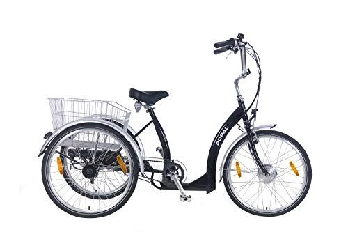 Popal Elektrische Driewieler E-Luxe 24 inch Zwart