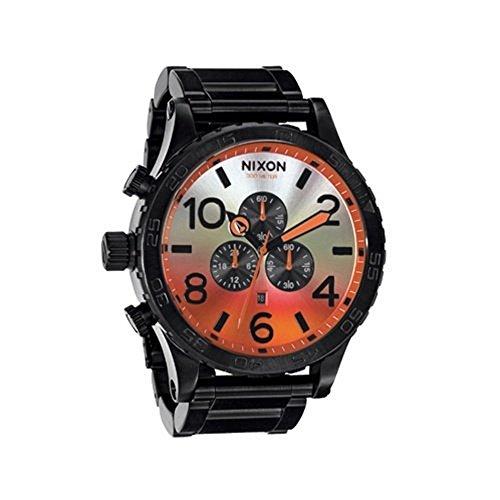Nixon 51-30 Chrono All Black/Sunrise Watch A083-580